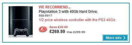 PS3 cheap at Argos
